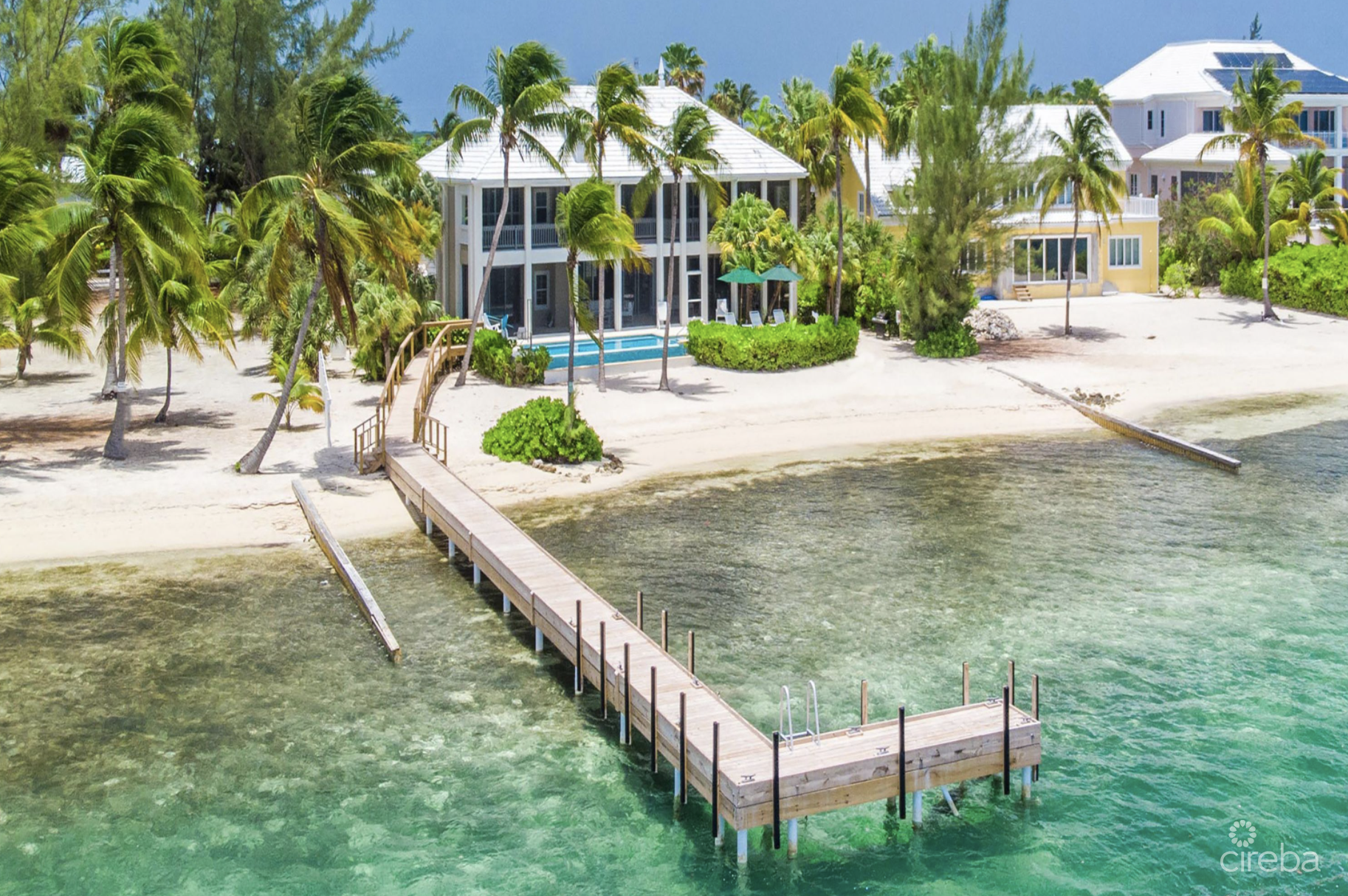 ABITA KAI BEACH FRONT RESIDENCE W/GUEST HOUSE, BOAT GARAGE AND DOCK!